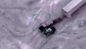 Libya hükümeti Hafter'e silah taşıyan konvoyun SİHA'larla vurulma anını yayımladı