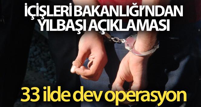 İçişleri Bakanlığı: 'Gerçekleştirilen operasyonlarda 267 şahıs gözaltına alınmıştır'