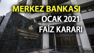Son dakika Merkez Bankası faiz kararı açıklandı! MB 2021 Ocak ayı faiz kararı yüzde kaç oldu?