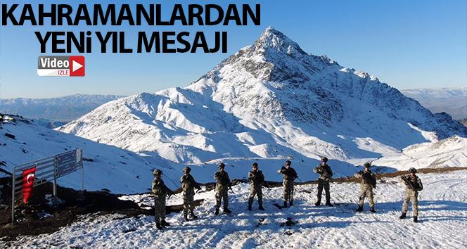 Teröristlerin inlerine giren kahramanlardan yeni yıl mesajı